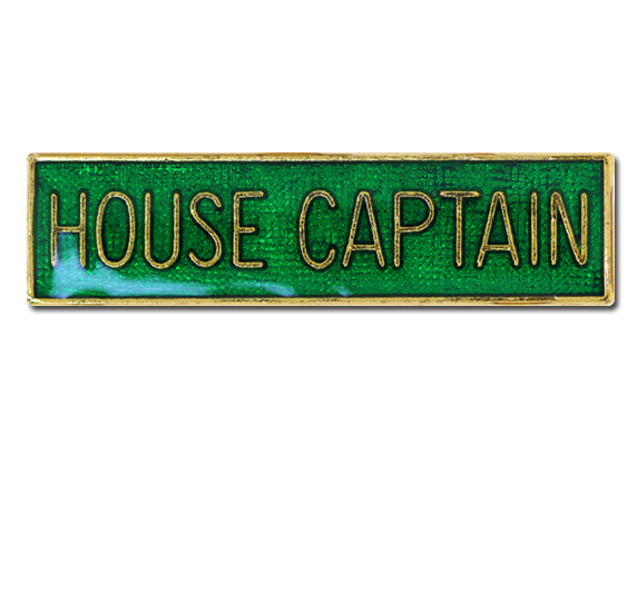 House Captain Squared Edge Bar Badge