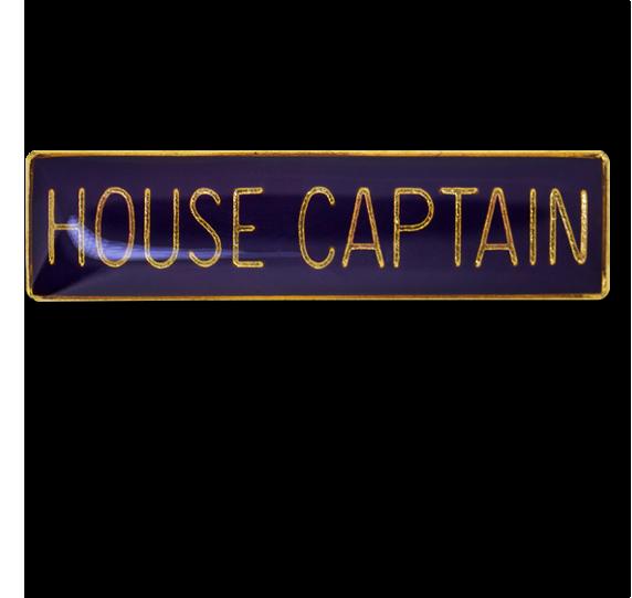 House Captain Squared Edge Bar Badge