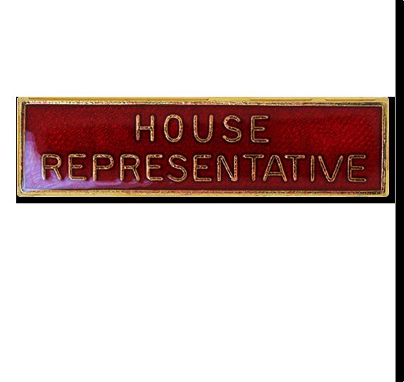 House Representative Squared Edge Bar Badge