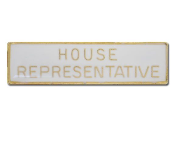 House Representative Squared Edge Bar Badge