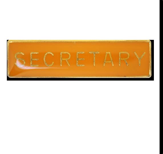 Secretary Squared Edge Bar Badge