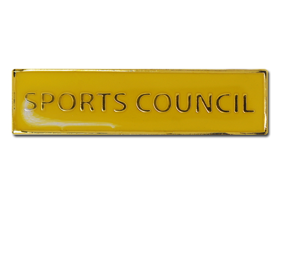 Sports Council Squared Edge Bar Badge