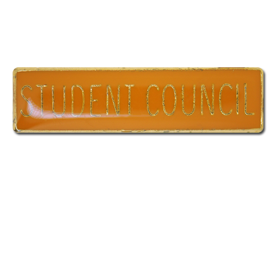 Student Council Squared Edge Bar Badge