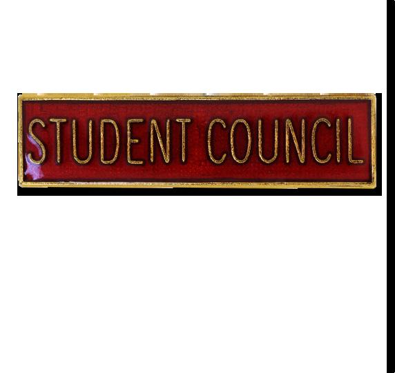 Student Council Squared Edge Bar Badge