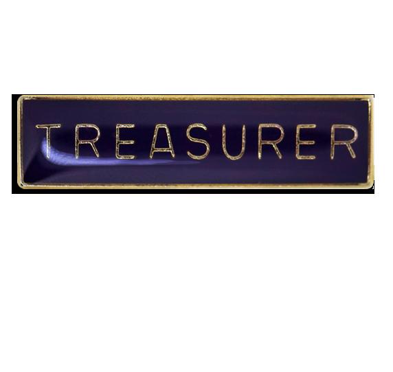 Treasurer Squared Edge Bar Badge