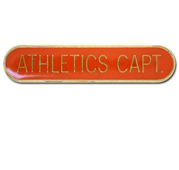 Athletics Captain Rounded Edge Bar Badge