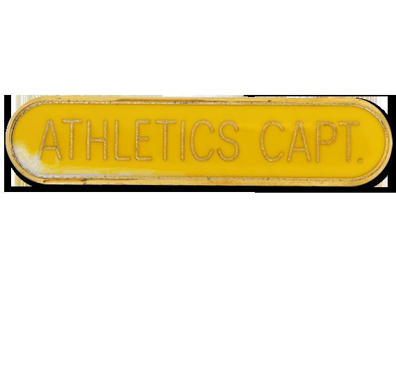 Athletics Captain Rounded Edge Bar Badge