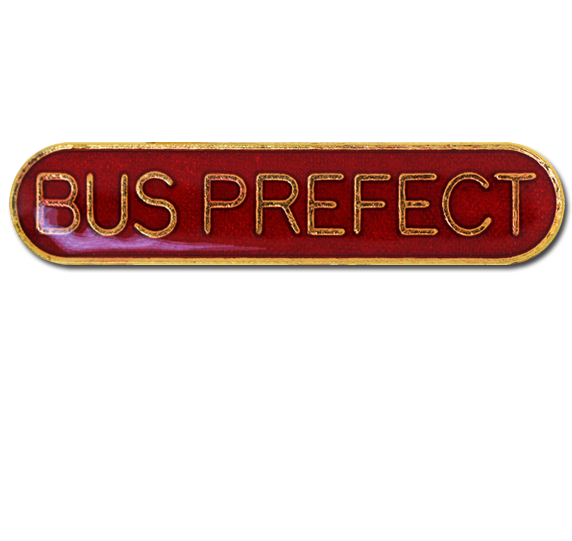 Bus Prefect Rounded Edge Bar Badge
