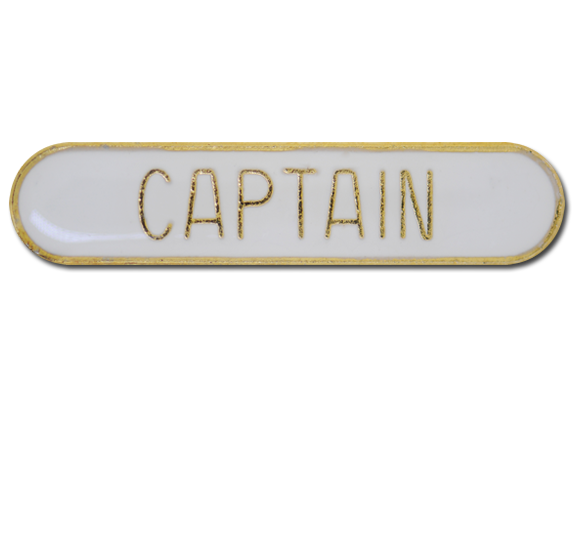 Captain Rounded Edge Bar Badge