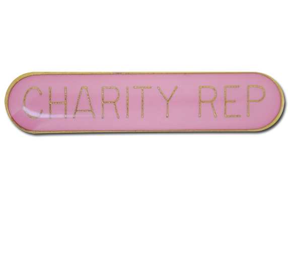 Charity Rep. Rounded Edge Bar Badge