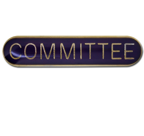 Committee Rounded Edge Bar Badge