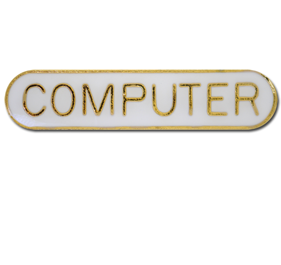 Computer Rounded Edge Bar Badge