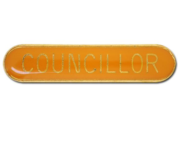 Councillor Rounded Edge Bar Badge