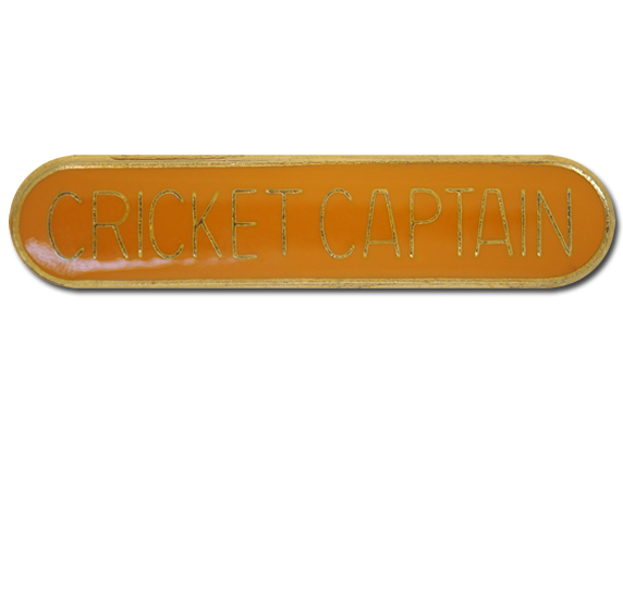 Cricket Captain Rounded Edge Bar Badge
