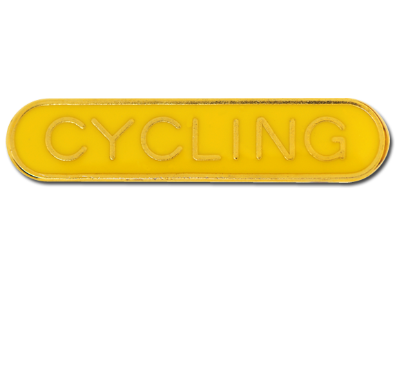Cycling Rounded Edge Bar Badge