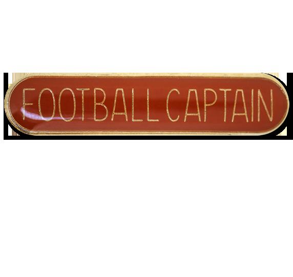 Football Captain Rounded Edge Bar Badge