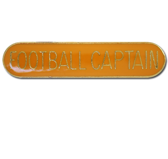 Football Captain Rounded Edge Bar Badge