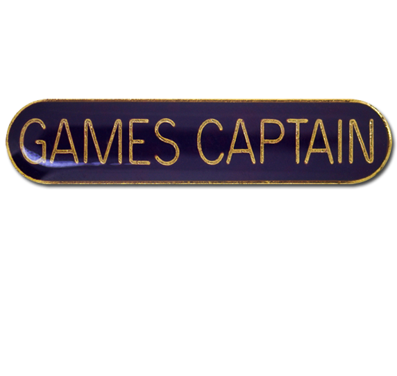 Games Captain Rounded Edge Bar Badge