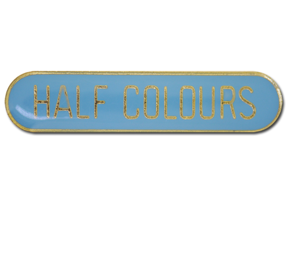 Half Colours Rounded Edge Bar Badge