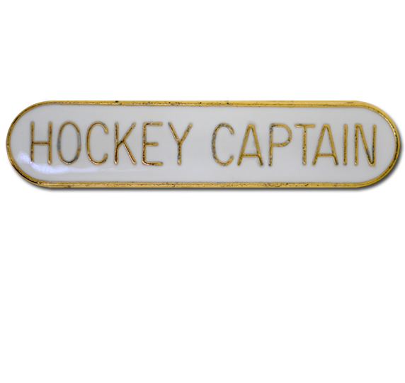 Hockey Captain Rounded Edge Bar Badge