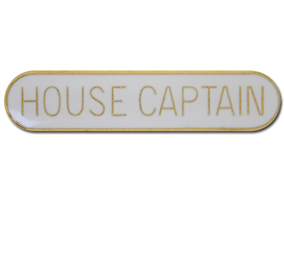 House Captain Rounded Edge Bar Badge