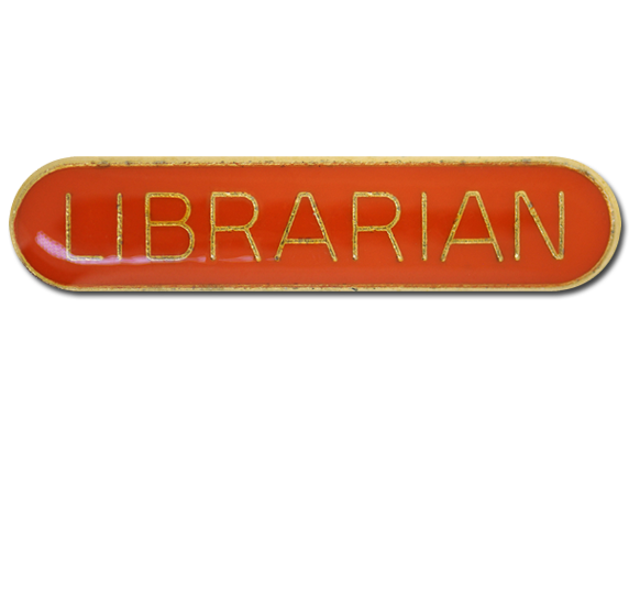 Librarian Rounded Edge Bar Badge