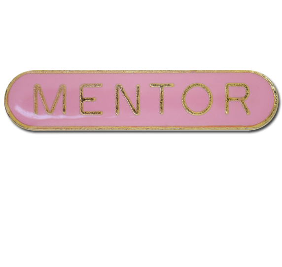 Mentor Rounded Edge Bar Badge