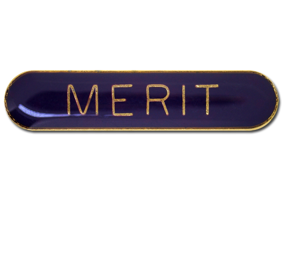 Merit Rounded Edge Bar Badge