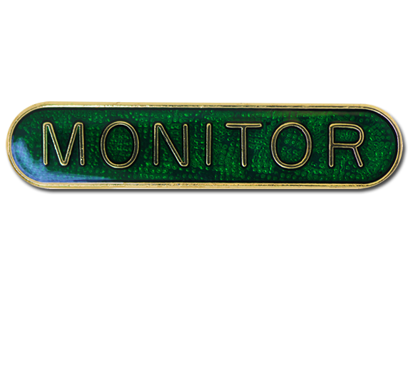 Monitor Rounded Edge Bar Badge