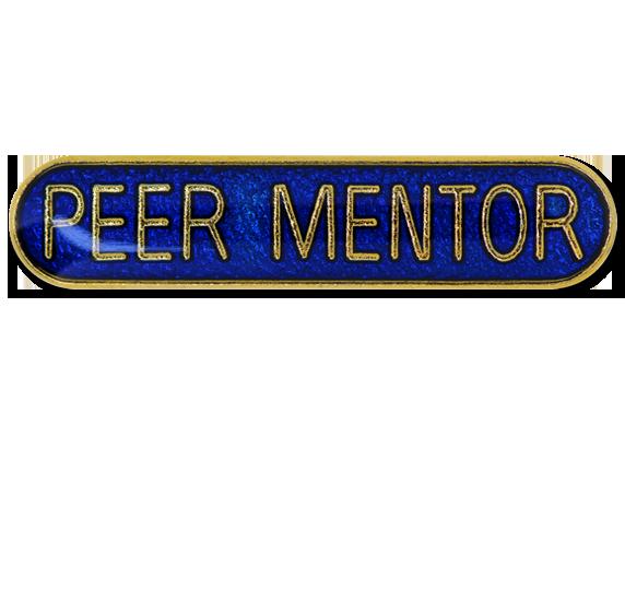 Peer Mentor Rounded Edge Bar Badge