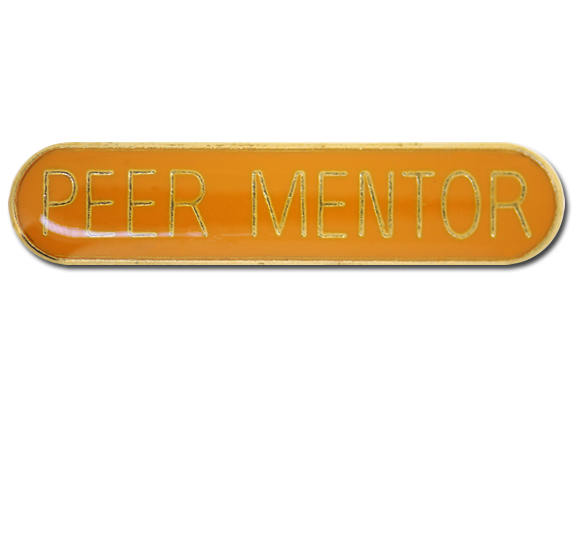 Peer Mentor Rounded Edge Bar Badge