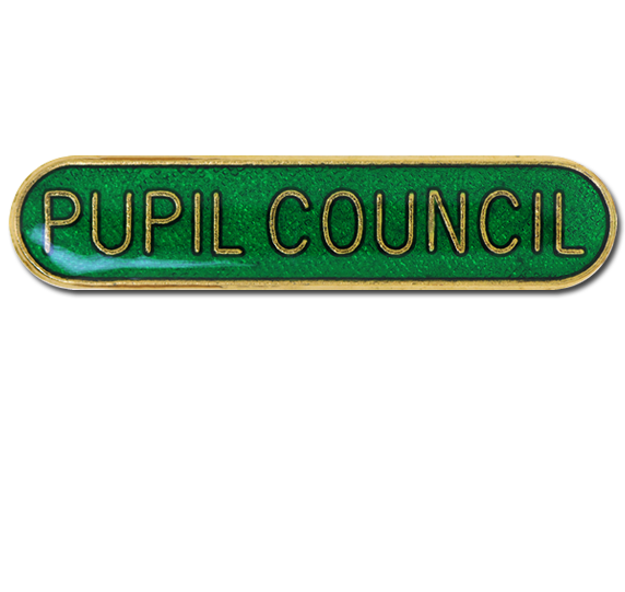 Pupil Council Rounded Edge Bar Badge