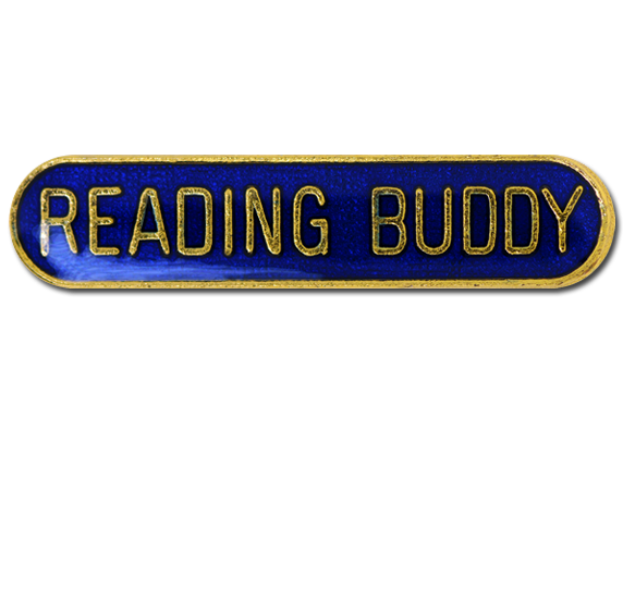 Reading Buddy Rounded Edge Bar Badge
