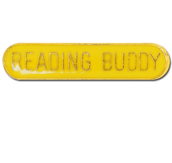 Reading Buddy Rounded Edge Bar Badge