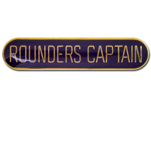 Rounders Captain Rounded Edge Bar Badge