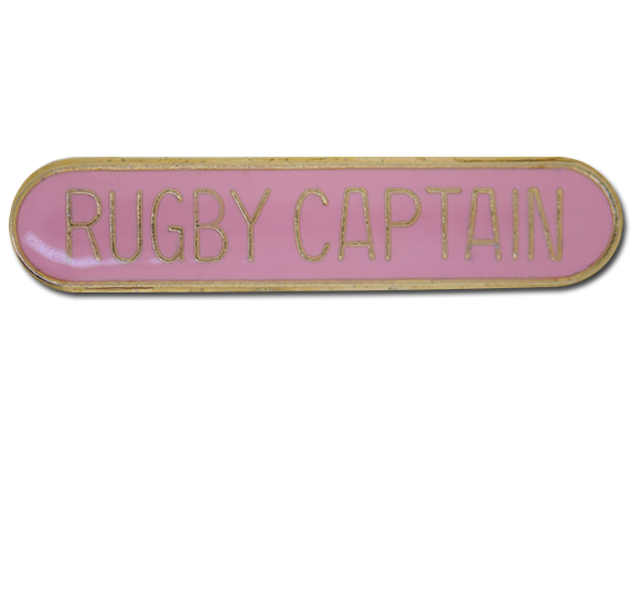 Rugby Captain Rounded Edge Bar Badge