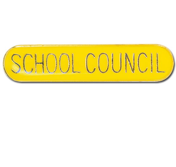 School Council Rounded Edge Bar Badge