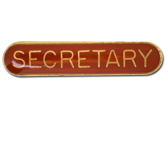 Secretary Rounded Edge Bar Badge