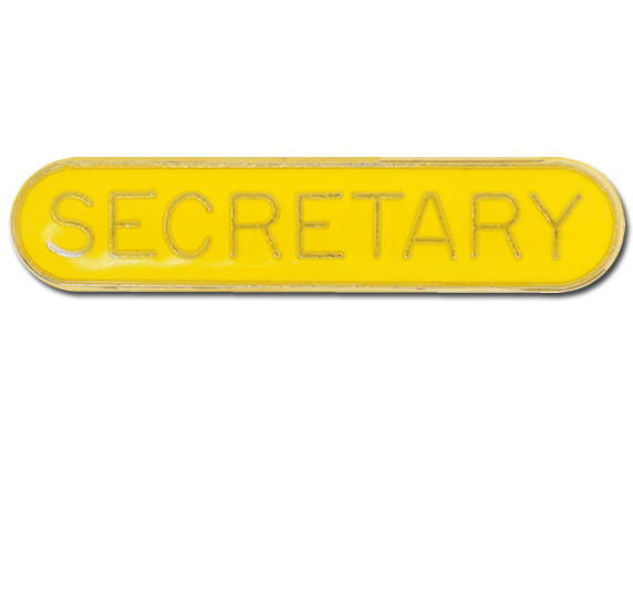 Secretary Rounded Edge Bar Badge