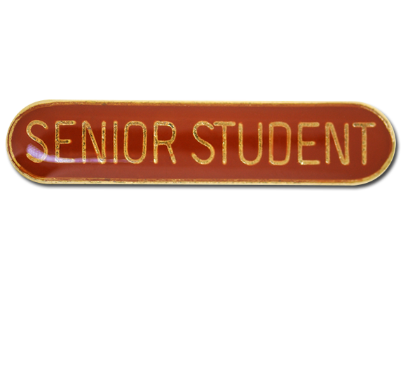 Senior Student Rounded Edge Bar Badge