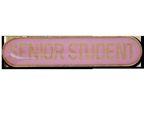 Senior Student Rounded Edge Bar Badge