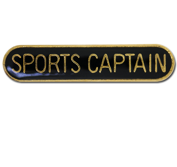Sports Captain Rounded Edge Bar Badge
