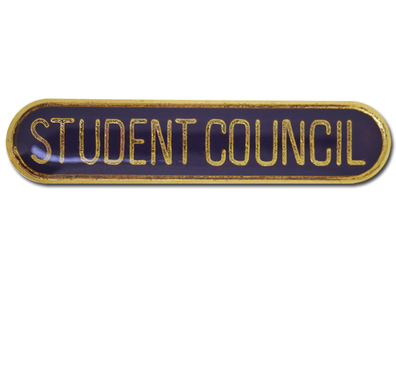 Student Council Rounded Edge Bar Badge