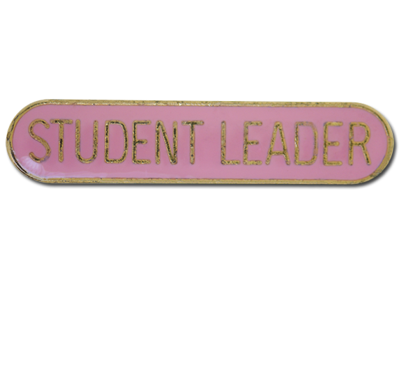 Student Leader Rounded Edge Bar Badge