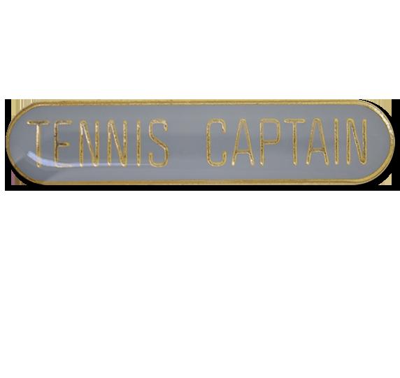 Tennis Captain Rounded Edge Bar Badge