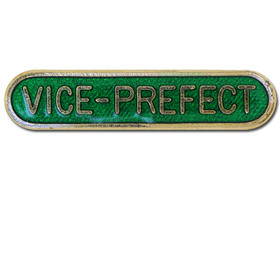 Vice-prefect Rounded Edge Bar Badge