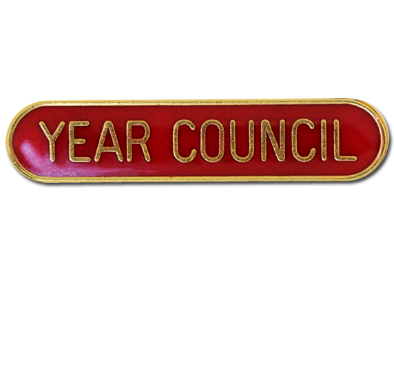 Year Council Rounded Edge Bar Badge