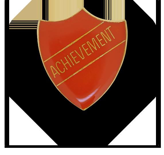 Achievement Enamelled Shield Badge