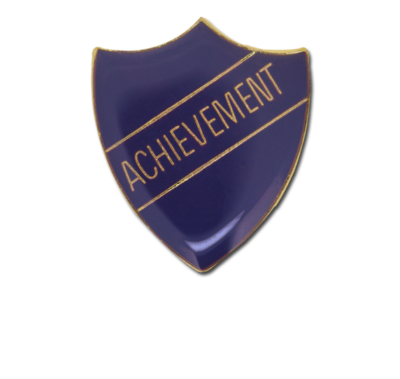 Achievement Enamelled Shield Badge