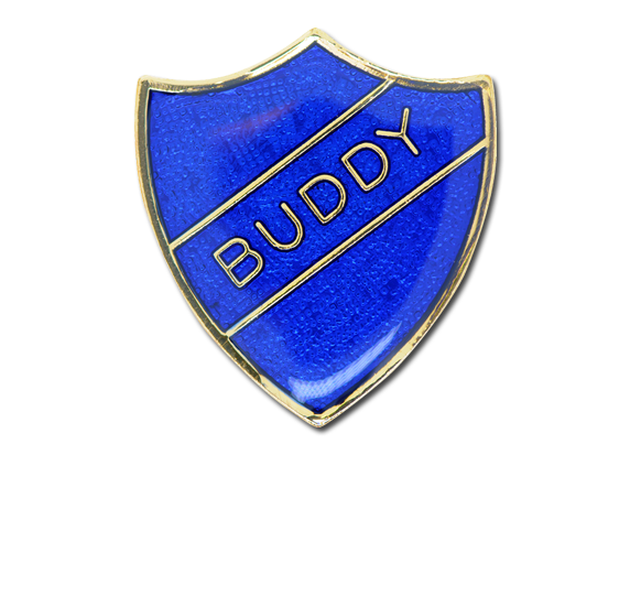 Buddy Enamelled Shield Badge